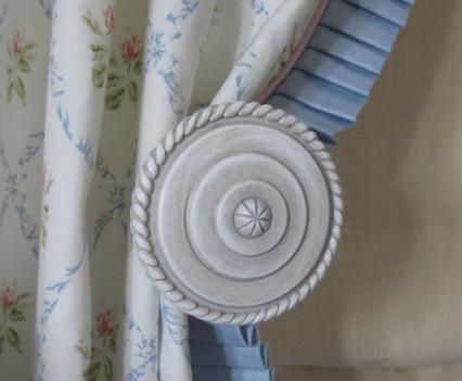 Window drapery detail closeup